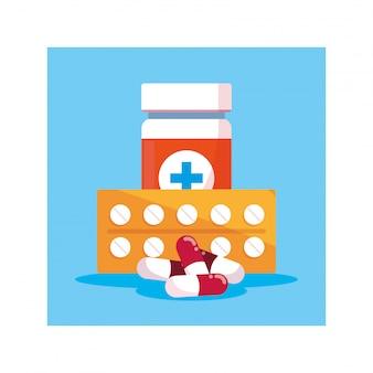 Leki i butelka tabletek