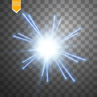 Lekka cyfrowa gwiazda na przezroczystym tle