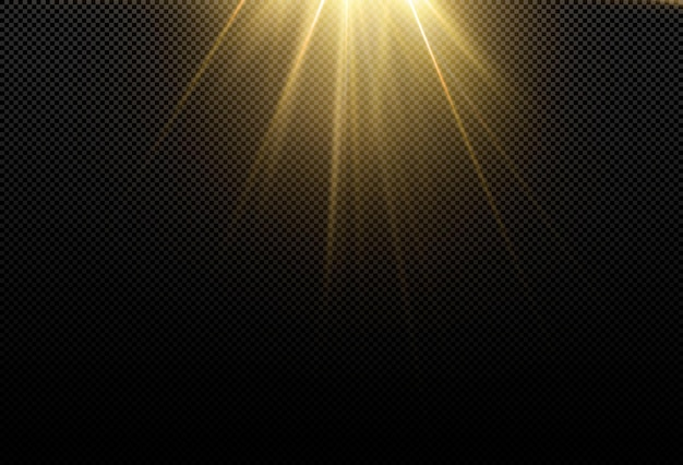 Lekka realistyczna krzywa. magiczny, mieniący się, złoty efekt blasku. potężny przepływ energii energii świetlnej.