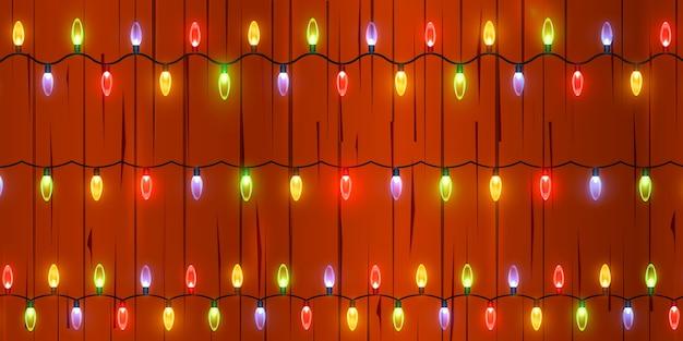 Lekka świąteczna girlanda. jasne lampki choinkowe.