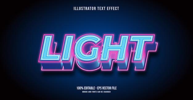 Lekki efekt tekstu, edytowalny styl tekstu