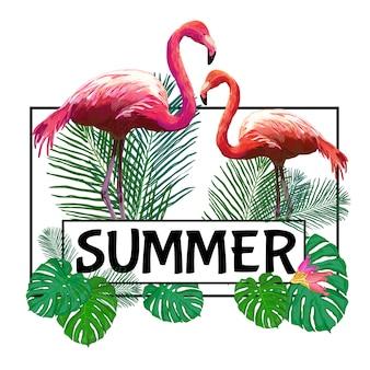 Lekki egzotyczny plakat tropikalny