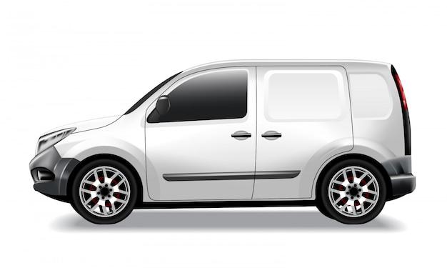Lekki samochód dostawczy, dostawczy samochód dostawczy, realistyczny.
