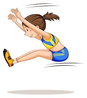 Lekkoatletka robi skok w dal