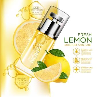 Lemon fruit serum nawilżający kosmetyk do pielęgnacji skóry