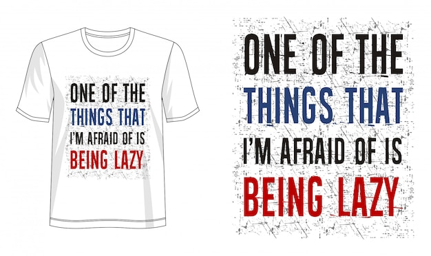 Leniwa typografia do koszulki z nadrukiem