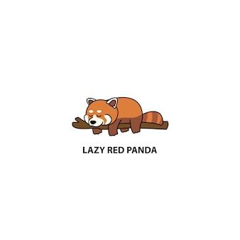 Leniwy czerwony śpiący panda