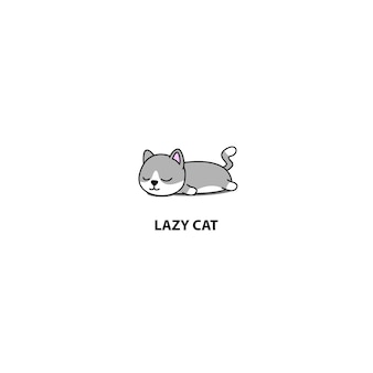 Leniwy kot munchkin spanie ikona