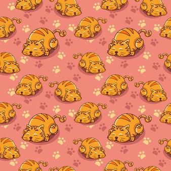 Leniwy kot wzór