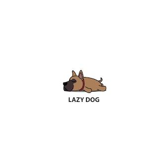 Leniwy pies szczeniak spanie ikona