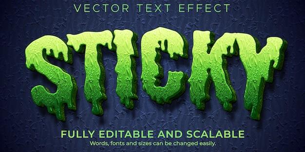 Lepki efekt tekstowy zombie, edytowalny potwór i przerażający styl tekstu