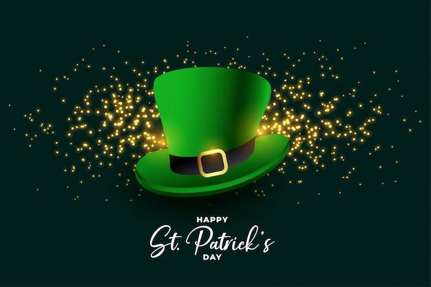Leprechaun kapelusz st patricks dzień festiwalu tło