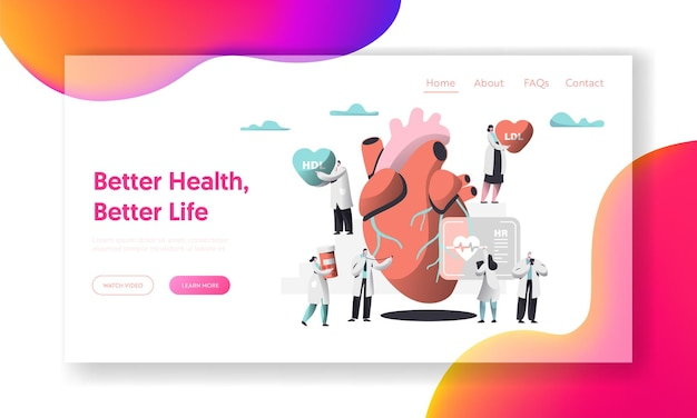 Lepsze zdrowie, strona docelowa testu na życie serca.