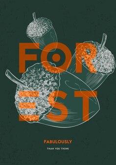 Leśne obiekty przyrodnicze. ilustracji wektorowych