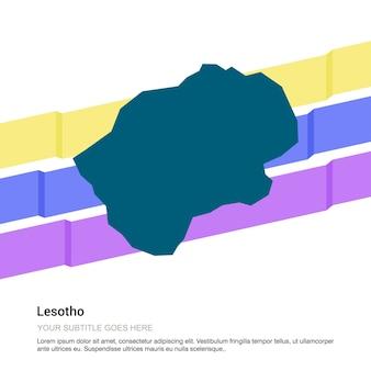 Lesotho mapa projekt z białym tłem