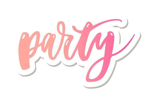 Let's party letter naklejka kaligraficzna