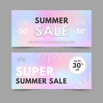 Letni baner sprzedaży