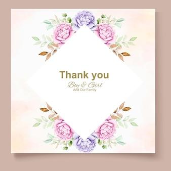 Letni baner z kwiatowym liściem akwarela
