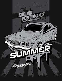 Letni drift, niestandardowy samochód do driftu