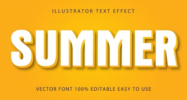 Letni edytowalny efekt tekstowy