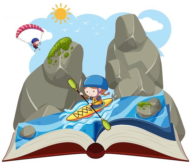 Letni kajak otwarta książka