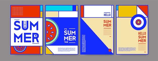 Letni kolorowy plakat szablon