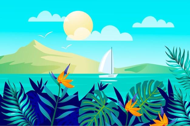 Letni krajobraz dla powiększenia