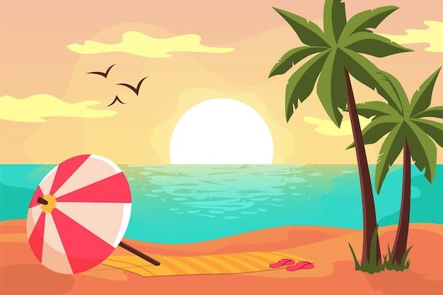 Letni krajobraz do powiększenia