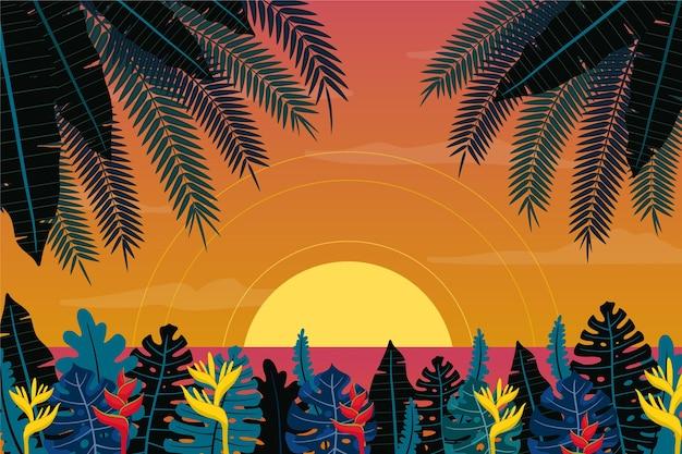 Letni krajobraz tła do powiększenia