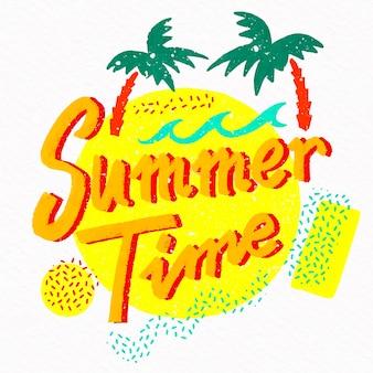 Letni napis z palmami