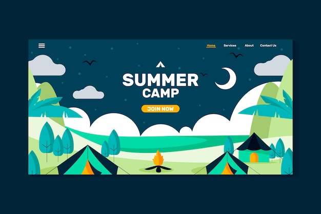 Letni obóz na landing page