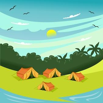 Letni obóz w mieszkaniu na plaży