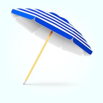 Letni parasol plażowy, parasol. koncepcja ochrony przed słońcem
