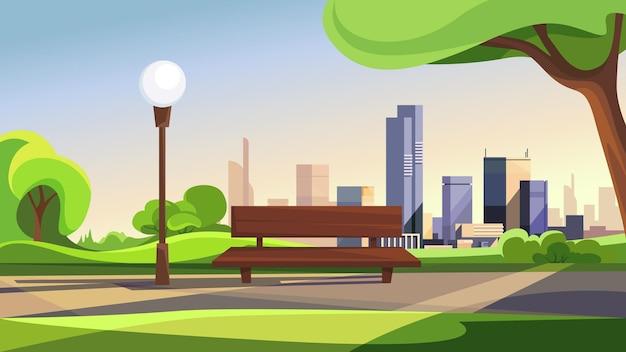 Letni park miejski. piękna scena na świeżym powietrzu.