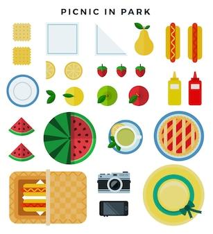 Letni piknik w parku na łące