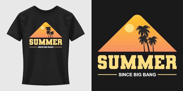 Letni projekt koszulki typografii