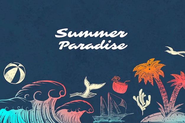 Letni raj w tle