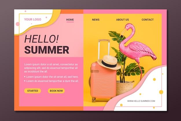 Letni styl strony docelowej ze zdjęciem