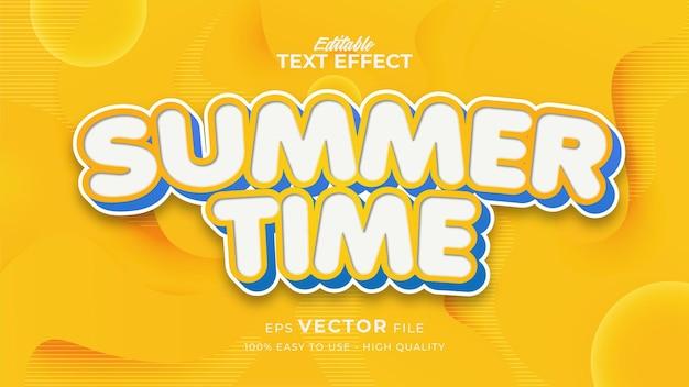 Letni szablon efektu tekstowego w stylu kreskówki