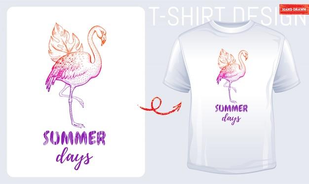 Letni t-shirt z nadrukiem