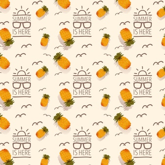 Letni wzór z owoców tropikalnych