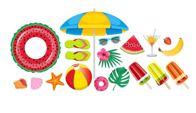 Letni zestaw plażowy
