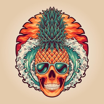 Letnia czaszka ananasowa głowa