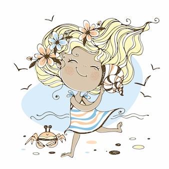 Letnia dziewczynka ilustracja