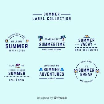 Letnia kolekcja etykiet