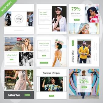 Letnia moda social media post template