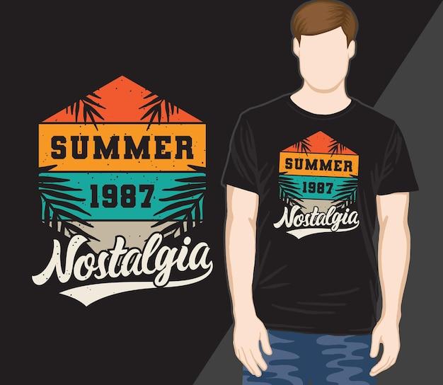 Letnia nostalgia typografia vintage t-shirt design