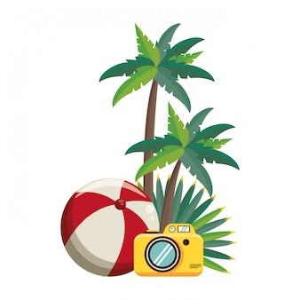 Letnia plaża i bajki na wakacje
