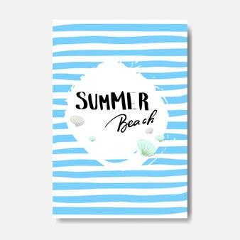 Letnia plaża znaczek