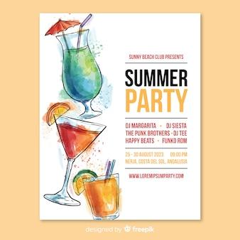 Letnia ulotka na imprezę